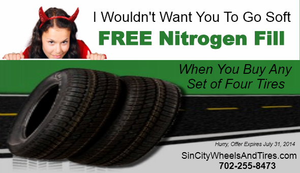 Get Free Nitrogen when you buy any 4 tires